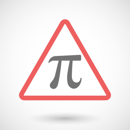 constant: Illustration of a warning signal with the number pi symbol