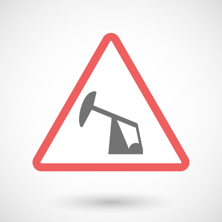 horsehead pump: Illustration of a warning signal with a horsehead pump Illustration