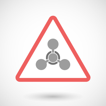 chemical weapon sign: Illustration of a warning signal with a chemical weapon sign