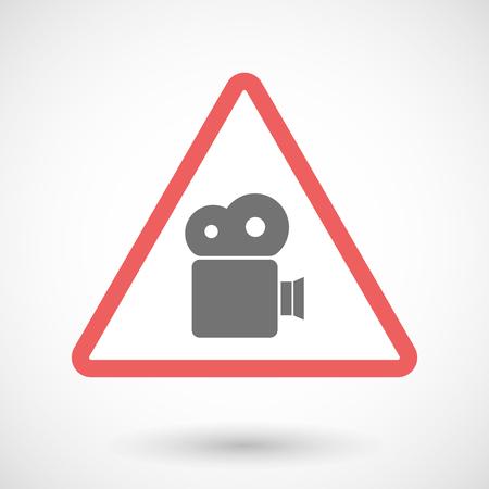 camera film: Illustration of a warning signal with a film camera Illustration