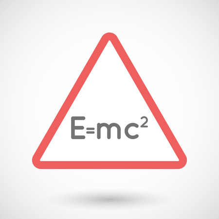 relativity: Illustration of a warning signal with the Theory of Relativity formula