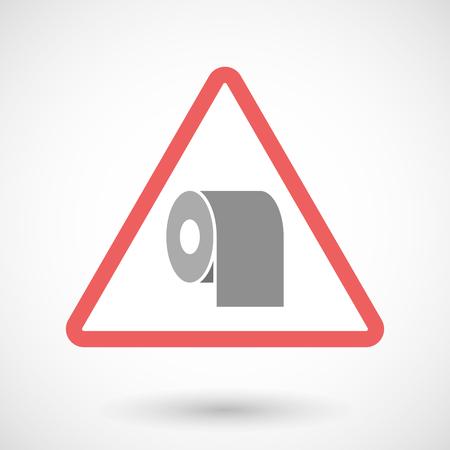 Illustrazione di un segnale di allarme con un rotolo di carta igienica Vettoriali