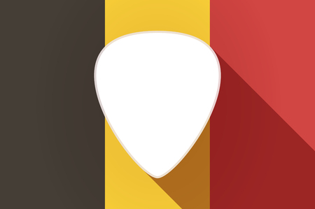 plectrum: Illustration of a long shadow Belgium flag with a plectrum