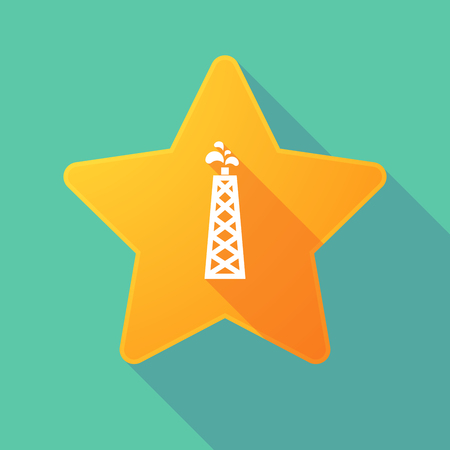 energy ranking: Illustration of a long shadow star with an oil tower