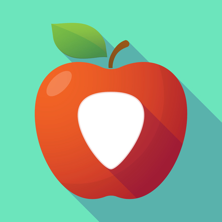 plectrum: Illustration of a long shadow red apple with a plectrum