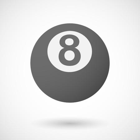 pool ball: Vector illustration of  a pool ball