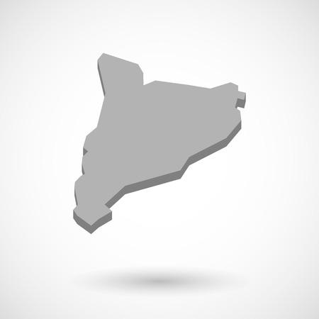 autonomia: Ilustración del mapa de Cataluña Vectores