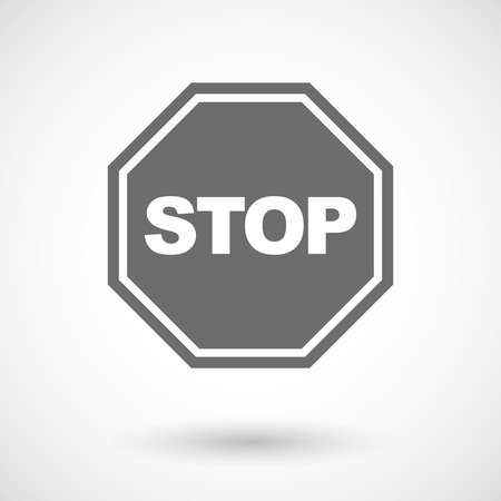 stop signal: Vector illustration of  a stop signal