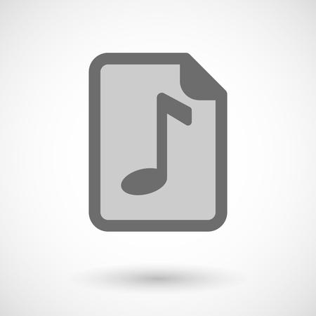 partition musique: Illustration d'une ic�ne de partition Illustration