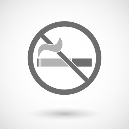 abstain: Vector illustration of  a no smoking sign