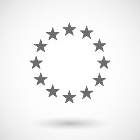 eu: Illustration of  the EU flag stars