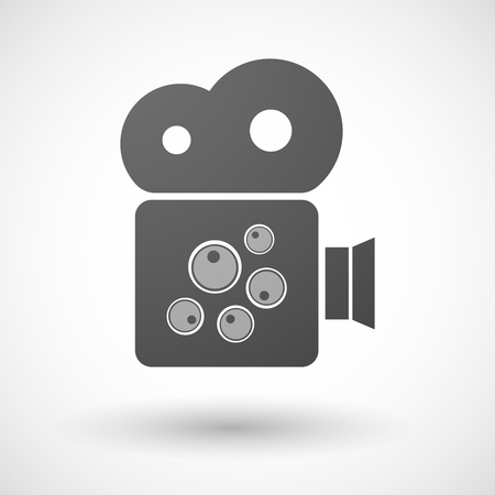 sex cell: Illustration of an isolated cinema camera icon with oocytes
