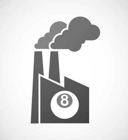 pool ball: Illustration of an isolated industrial factory icon with  a pool ball Illustration
