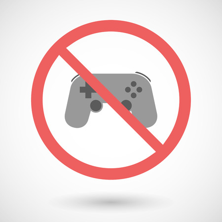 game pad: Illustration of a forbidden vector signal with   a game pad Illustration