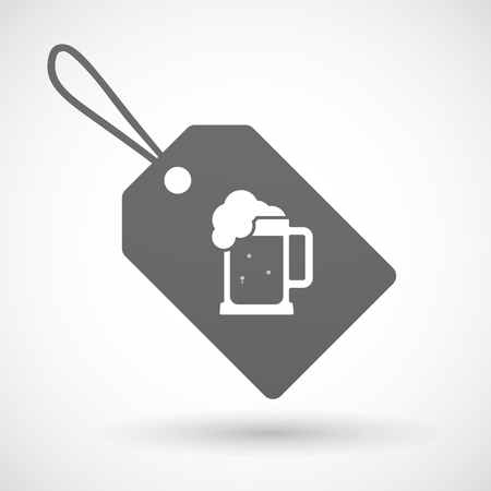 beer jar: Illustration of a shopping label icon with  a beer jar icon Vectores