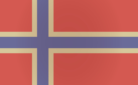 norway flag: Illustration of a long shadow Norway flag