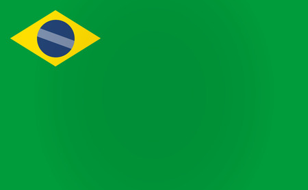 flag template: Illustration of a long shadow Brazil flag template Illustration