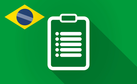 financial official: Illustration of a long shadow Brazil flag with a report