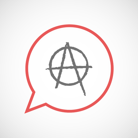anarchist: Illustration of an isolated comic balloon with an anarchy sign Illustration