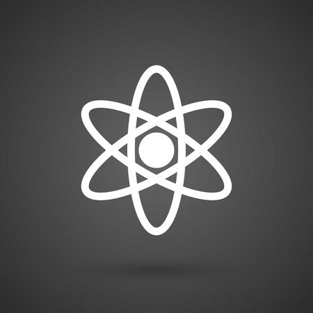 neutron: an atom   white icon on a dark  background vector illustration