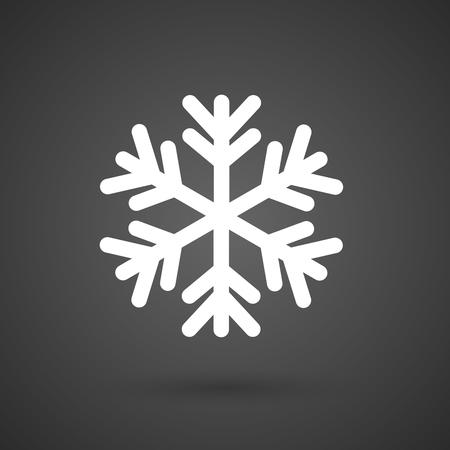 Une flocon de neige icône blanche sur un fond sombre illustration vectorielle