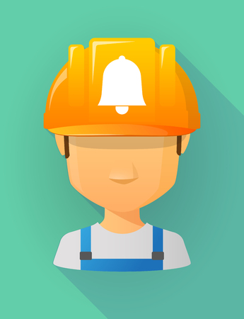 safe and sound: Anonymous male worker avatar wearing a safety helmet that shows