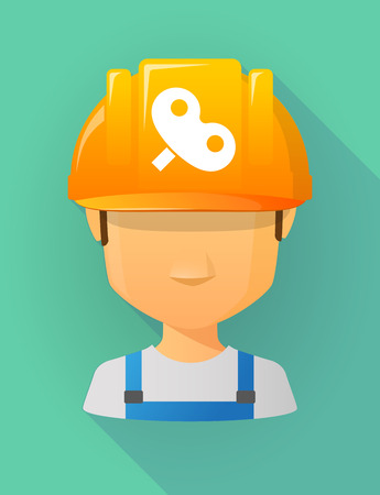 crank: Anonymous male worker avatar wearing a safety helmet that shows a toy crank