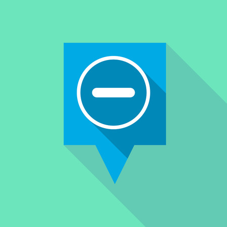 subtraction: Illustration of a long tooltip icon with a subtraction sign