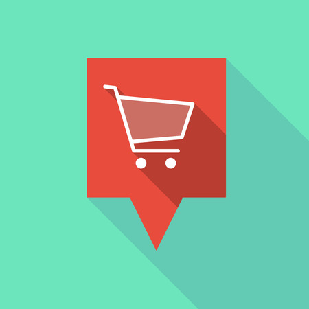 tooltip: Illustration of a long tooltip icon with a shopping cart