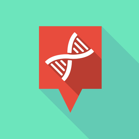 transgenic: Illustration of a long tooltip icon with a DNA sign