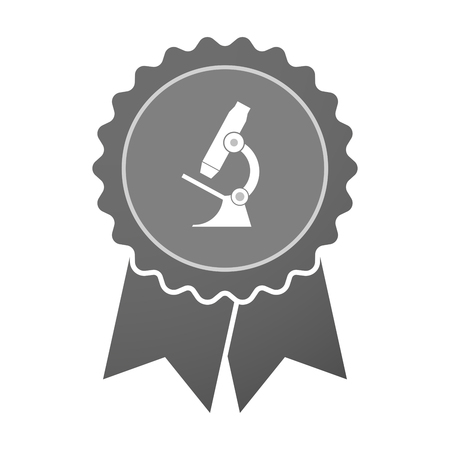 microscope lens: Illustration of an isolated award badge with  a microscope icon Illustration
