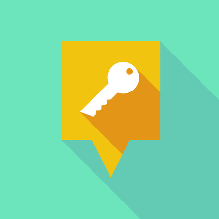 tooltip: Illustration of a long tooltip icon with a key