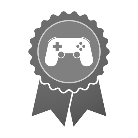 game pad: Illustration of an isolated award badge with  a game pad