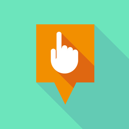 tooltip: Illustration of a long tooltip icon with a pointing hand Illustration