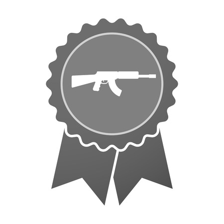seal gun: Illustration of an isolated award badge with  a machine gun sign Illustration