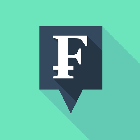 tooltip: Illustration of a long tooltip icon with a swiss franc sign Illustration