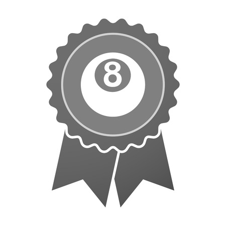 pool ball: Illustration of an isolated award badge with  a pool ball Illustration