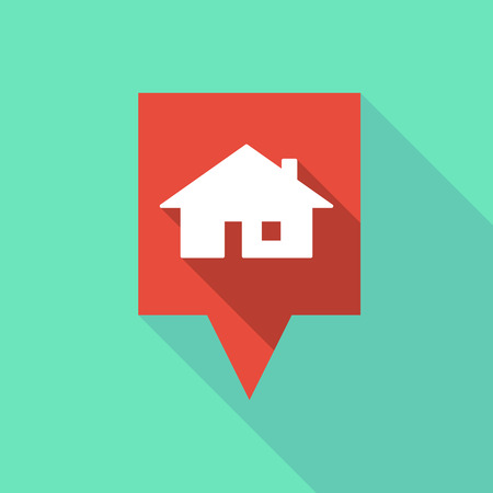 tooltip: Illustration of a long tooltip icon with a house