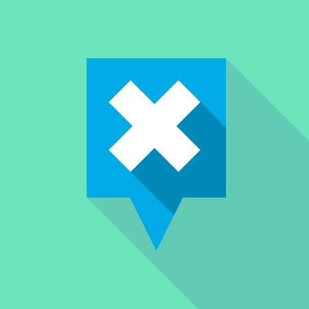 rejection: Illustration of a long tooltip icon with an x sign Illustration