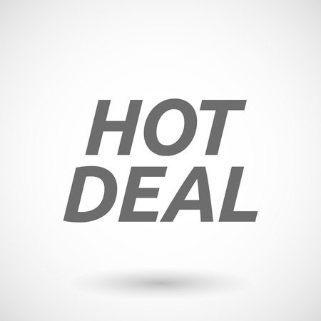 hot deal: Isolated vector illustration of    the text HOT DEAL Illustration
