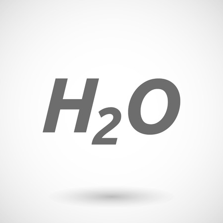 h2o: Isolated vector illustration of    the text H2O