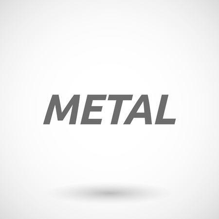 heavy metal: Isolated vector illustration of   the text METAL Illustration