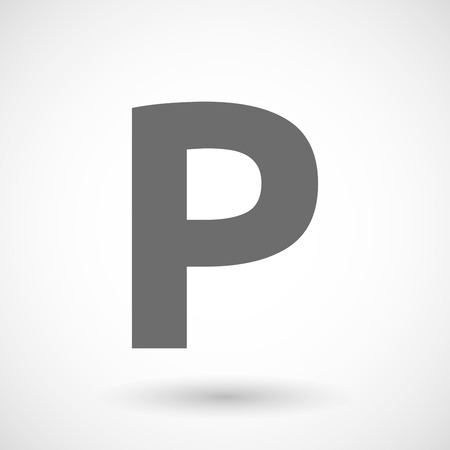 valet: Isolated vector illustration of    the letter P