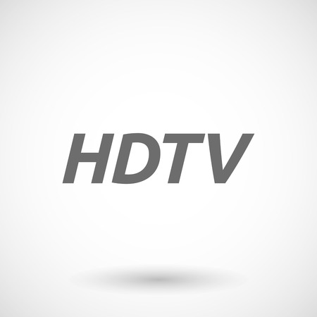 hdtv: Isolated vector illustration of    the text HDTV