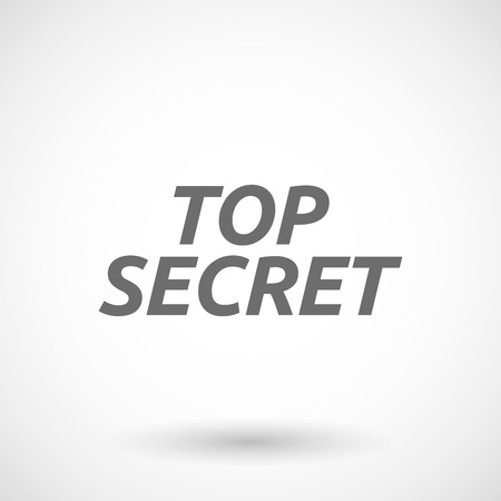 secrecy: Isolated vector illustration of    the text TOP SECRET