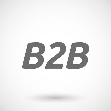b2b: ilustraci�n del vector del texto B2B