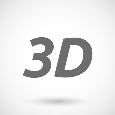 text 3d: Isolated vector illustration of    the text 3D Illustration