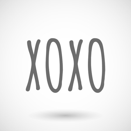 xoxo: Isolated vector illustration of    the text XOXO