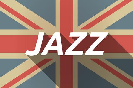 Ilustración de una bandera del Reino Unido larga sombra