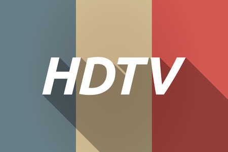 hdtv: Illustration of a Long shadow France flag with    the text HDTV